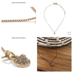 • Madewell Dainty pavé Stud Necklace
